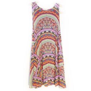MARA HOFFMAN Coral Rainbow Tank Dress Size XS